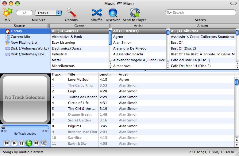 MusicIP Mixer: действительно умные плейлисты