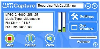 WM Capture    программа для снятия видео с экрана