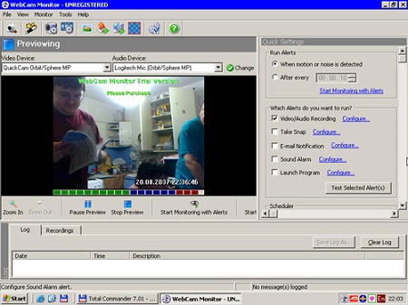 Видеонаблюдения для на ноутбук программу