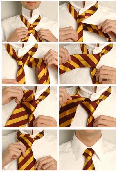 завязывать галстук, способы