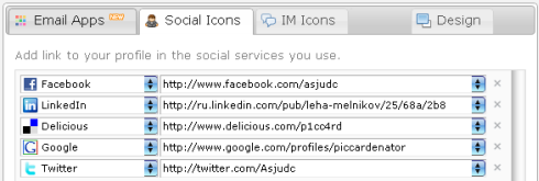 WiseStamp SocialIcons