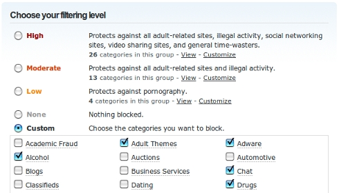 odns-web-content-filtering
