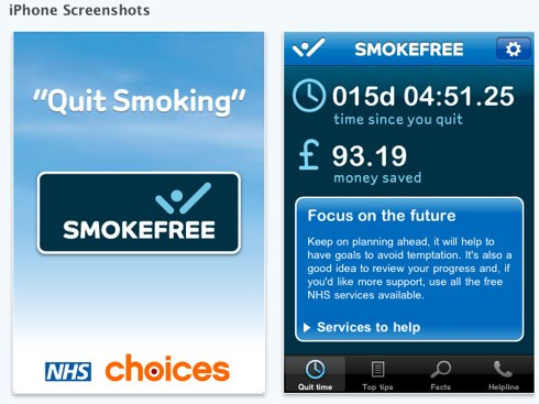NHS Quit Smoking for iPhone