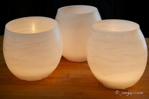 Water Balloon Luminarias