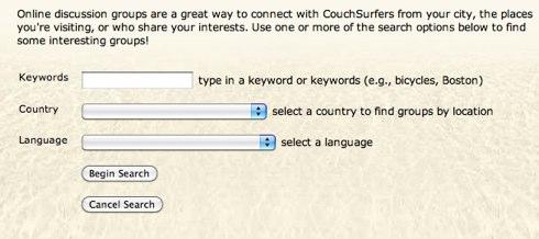 CouchSurfing - Find Groups