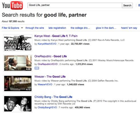 Good Life, partner