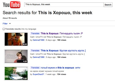 This is Хорошо, this week