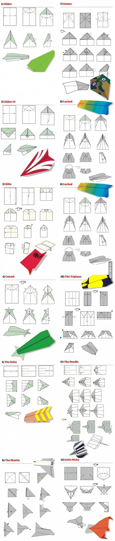 как сделать летающий планер из бумаги инструкции