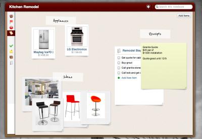 специальное расширение для легкого доступа к записям Springpad