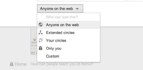 контроль за информацией в Google+