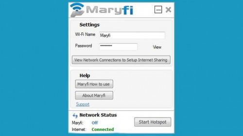 Бесплатная Maryfi позволяет поделиться своим интернетом в Windows 7 с окружающими, настройки Maryfi