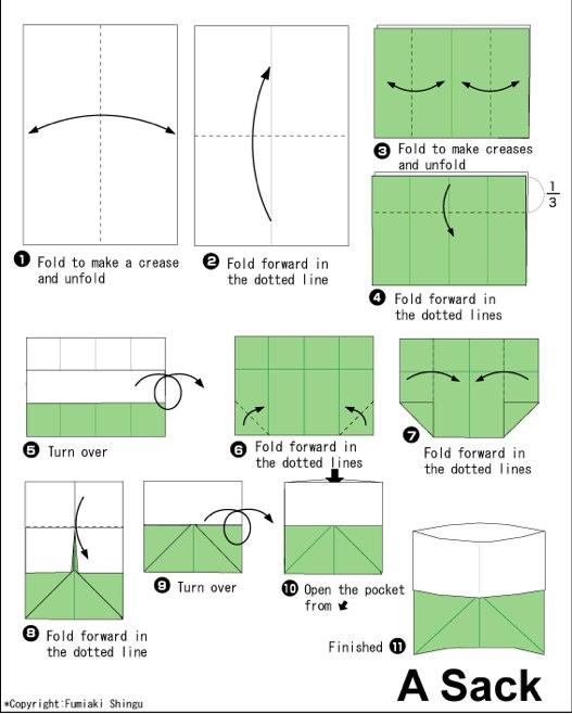 схема складывания стаканчика