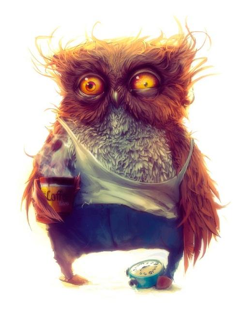 смешная не выспавшаяся сова, как выработать привычку просыпаться по будильнику