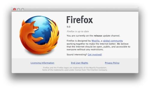 В Firefox 9.0 появилась поддержка жестов Mac OS X Lion