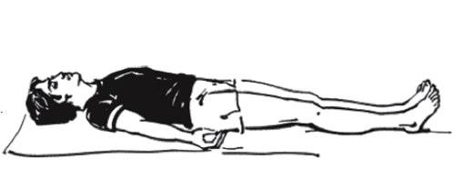 йога, поза трупа