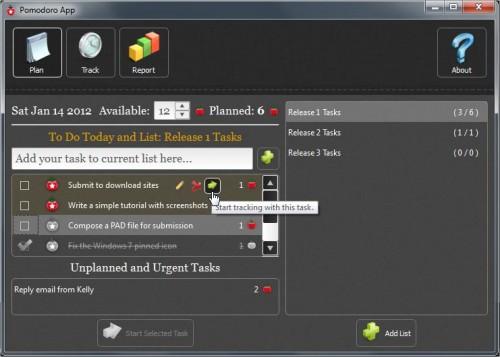 PomodoroApp для Windows — удобный тайм-менеджер и список задач