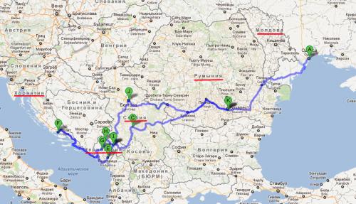 как проложить маршрут для путешествия на велосипеде