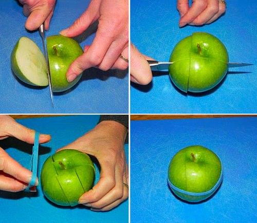 как сделать так, чтобы яблоко не темнело