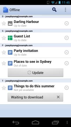 Google Docs для Android: доступ к файлам офлайн, удобное чтение на планшетах