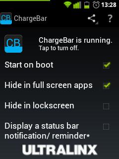 Как должен выглядеть индикатор заряда батареи на Android