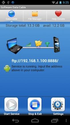 Превращаем свой Android в FTP хранилище с помощью Software Data Cable