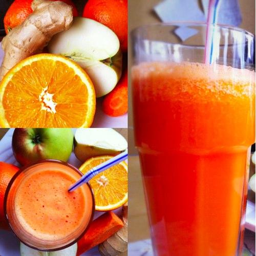 РЕЦЕПТЫ: Морковно-яблочно-апельсиновый смузи