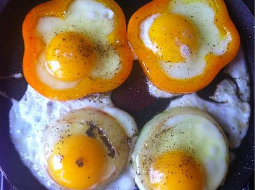 рецепт яркой яичницы