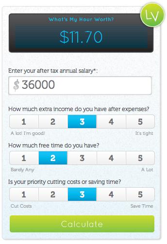 онлайн-калькулятор для расчёта стоимости вашего времени