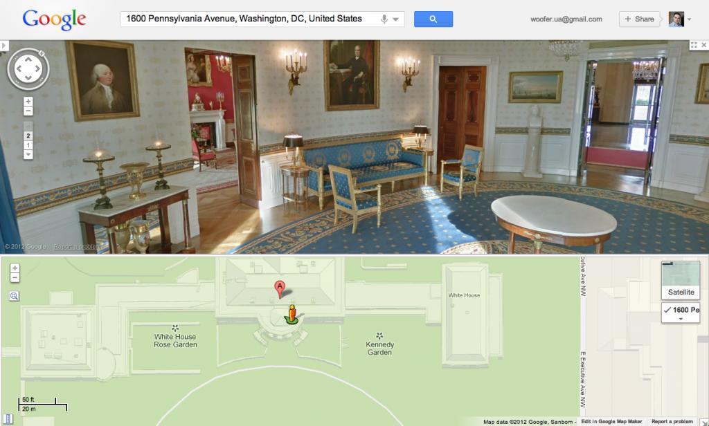 Совершите виртуальную прогулку по Белому Дому