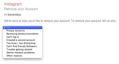 как удалить свой аккаунт из соцсети