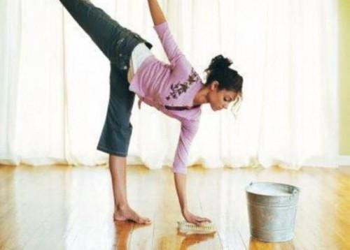 Как совместить обычные домашние дела с физическими упражнениями