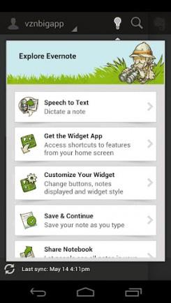 Evernote для Android: полный редизайн и новые функции