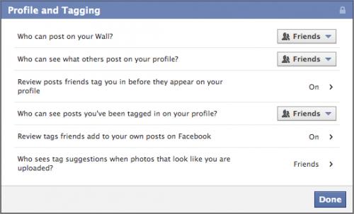 как правильно настроить приватность в facebook