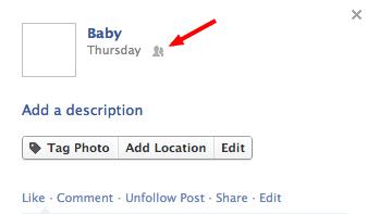 как посмотреть, кому доступна фотография в facebook