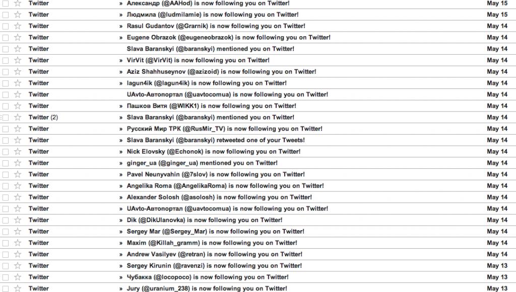 Twitter начал рассылку недельного дайджеста в почту. Отключаем!