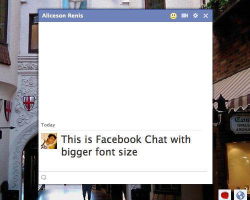 Pretty Facebook Chat, расширение для обмена сообщениями