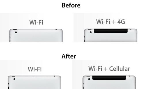 iPad Wi-Fi + 4G переименован в iPad Wi-Fi + Cellular