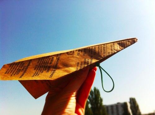 Как сделать бумажный самолетик-катапульту