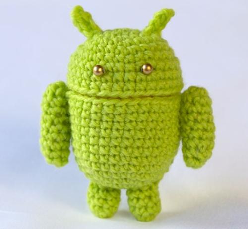 Как связать крючком маленького Android.