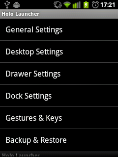 Holo: простой ICS лаунчер для Android 2.2+
