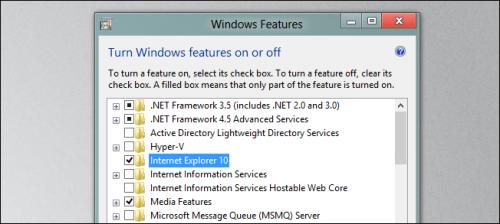 Как отключить Internet Explorer 10 в Windows 8