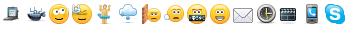 скрытые смайлики в Skype