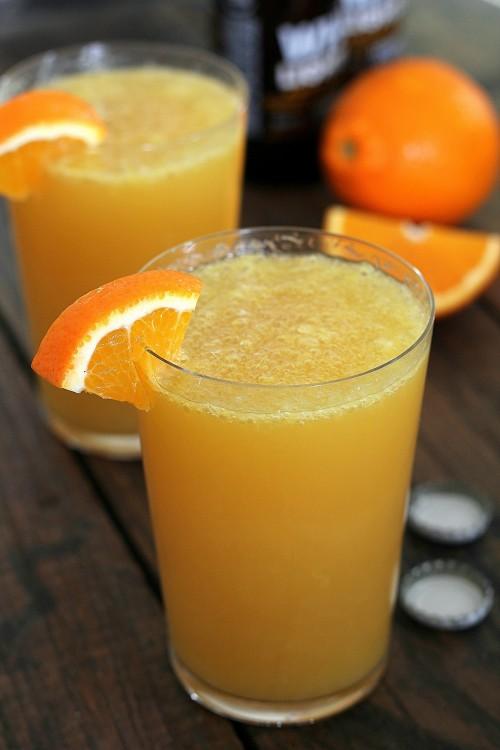 Коктейль, пиво с апельсиновым соком
