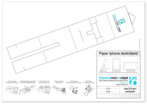 Как сделать подставку для телефона из бумаги