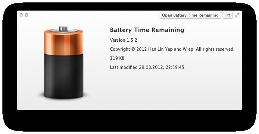 Battery Time Remaining — окончательное решение «проблемы времени» в Mountain Lion