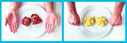 Как определять правильный размер порций для еды при помощи правила ру