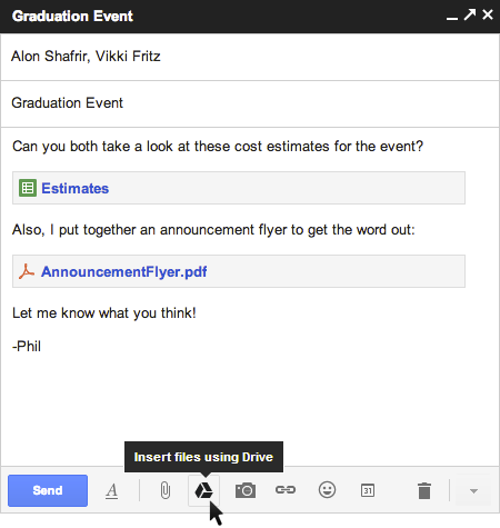 Теперь можно делать вложения в Gmail при помощи Google Drive!