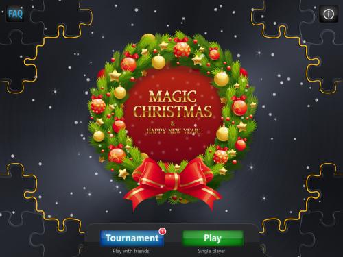 Мagic Puzzles-Merry Christmas! — красивые новогодние пазлы для iPad