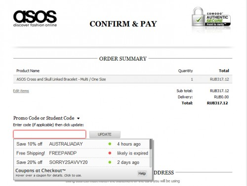 Confirm   pay   ASOS
