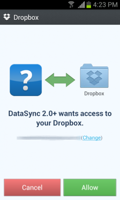 Dropbox-Confirmation